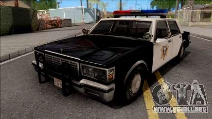 Chevrolet Caprice 1986 Police LVPD SA Style para GTA San Andreas