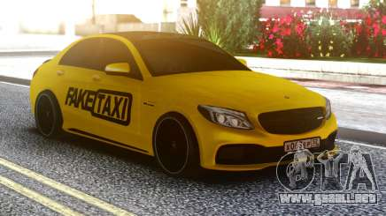 Mercedes-Benz C63 FAKE TAXI para GTA San Andreas