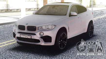 BMW X6M White Original para GTA San Andreas