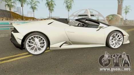 Lamborghini Huracan Evo Spyder 2020 para GTA San Andreas