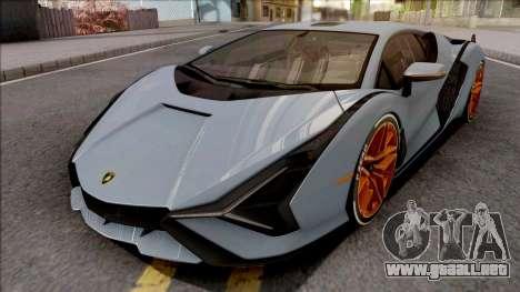 Lamborghini Sian 2020 para GTA San Andreas