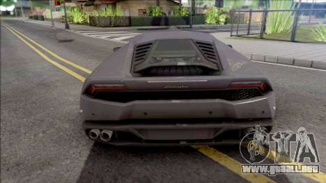 Lamborghini Huracan 2015 para GTA San Andreas
