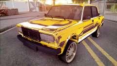 VAZ-2107 de Oro Chrome Bakú para GTA San Andreas