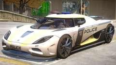 Koenigsegg Agera Police PJ2 para GTA 4