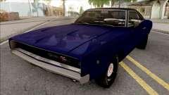 Dodge Charger 1968 Blue para GTA San Andreas