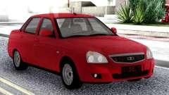 Lada Priora Red Sedan para GTA San Andreas