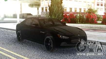 Maserati Ghibli S 2014 para GTA San Andreas