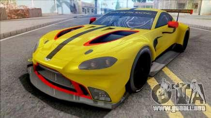 Aston Martin Vantage GTE 2018 para GTA San Andreas