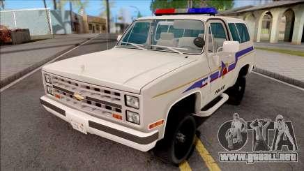 Chevrolet Blazer 1985 Hometown Police para GTA San Andreas