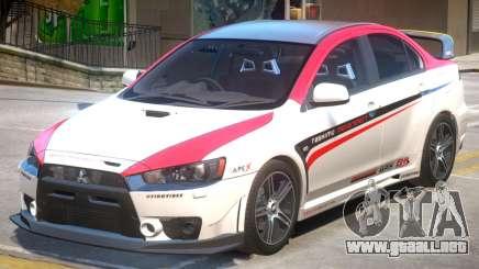 Mitsubishi Lancer Evo X PJ4 para GTA 4