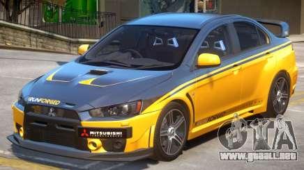 Mitsubishi Lancer Evo X PJ3 para GTA 4
