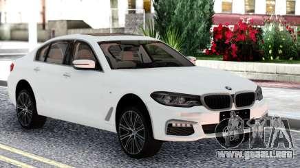 BMW 540i G30 White Sedan para GTA San Andreas