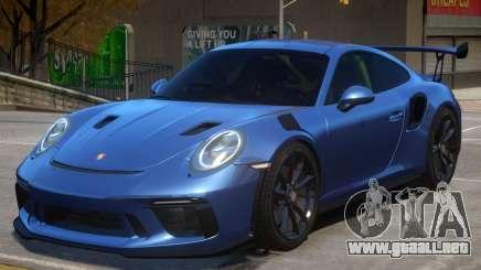 2018 Porsche 911 GT3 RS wheel black para GTA 4