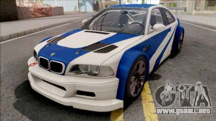 BMW M3 GTR NFS Most Wanted para GTA San Andreas