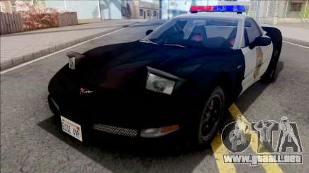 Chevrolet Corvette 1999 Hometown Police para GTA San Andreas