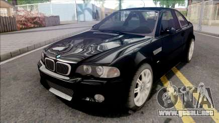 BMW M3 E46 Black para GTA San Andreas
