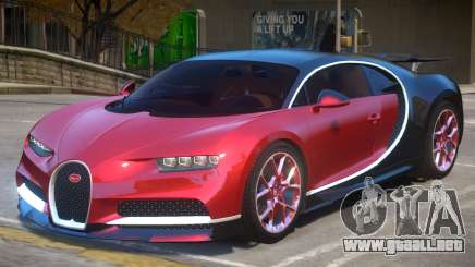 2017 Bugatti Chiron wheel red para GTA 4