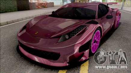 Ferrari 458 GT3 Itasha Vampire of AzurLane DTM para GTA San Andreas