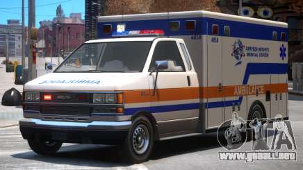 Ambulance Cerveza Heights Medical Center para GTA 4