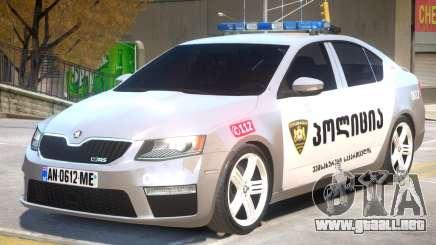Skoda Octavia Police para GTA 4