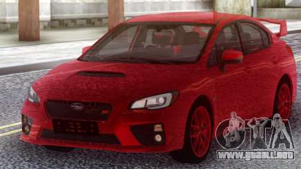 Subaru WRX STI 2017 Red Original para GTA San Andreas