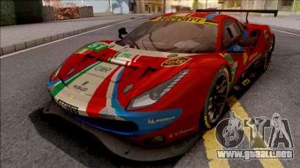 Ferrari 488 GTE Evo 2018 (AF Corse) PJ Preset 2 para GTA San Andreas