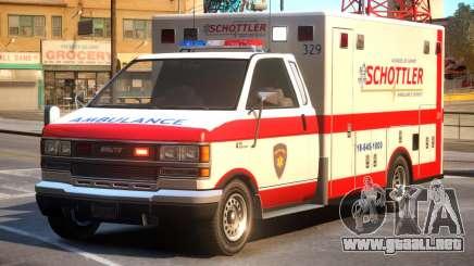 Schottler Ambulance Service para GTA 4