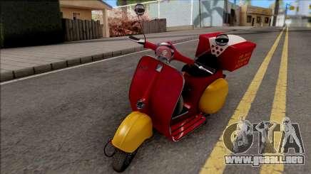 Piaggio Vespa VNB 125 Pizzaboy IVF para GTA San Andreas
