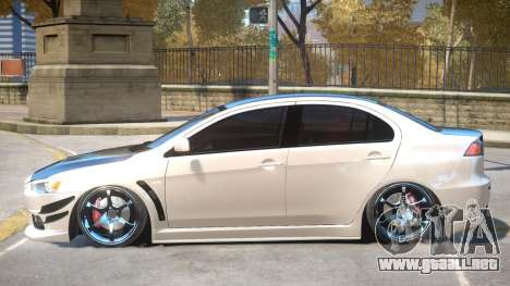 Mitsubishi Lancer Evolution X GSR para GTA 4