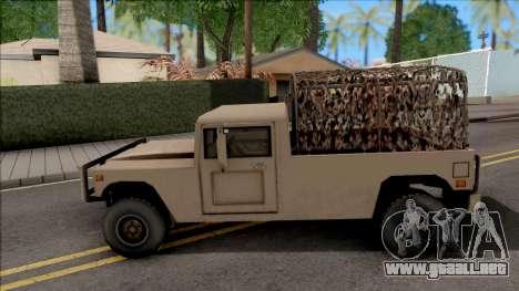 GTA V Mammoth Squaddie SA Style para GTA San Andreas