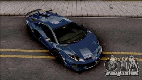 Lamborghini Aventador SVJ 2019 para GTA San Andreas