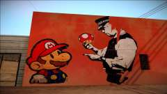 Mario Bros Wall HD para GTA San Andreas