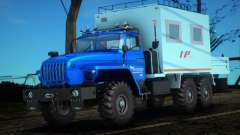 Ural 44202-0311-60Е5 - taller Móvil LP para GTA San Andreas