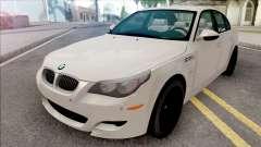 BMW M5 E60 2009 White para GTA San Andreas