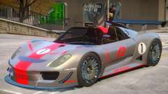 Porsche 918 Roadster PJ2 para GTA 4