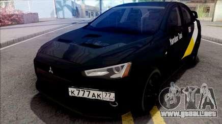 Mitsubishi Lancer Evolution 10 Yandex Taxi v3 para GTA San Andreas