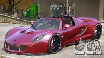 Hennessey Venom GT Roadster para GTA 4