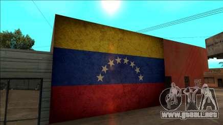 Venezuela bandera en la pared para GTA San Andreas