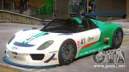 Porsche 918 Roadster PJ3 para GTA 4