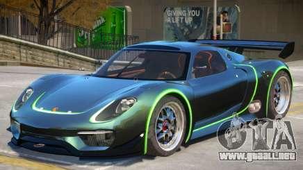 Porsche 918 RSR PJ4 para GTA 4