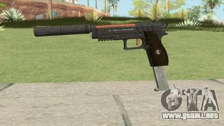 Hawk And Little Pistol GTA V (Orange) V7 para GTA San Andreas