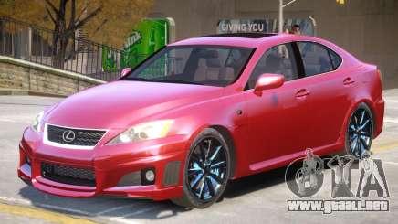 Lexus ISF Improved para GTA 4