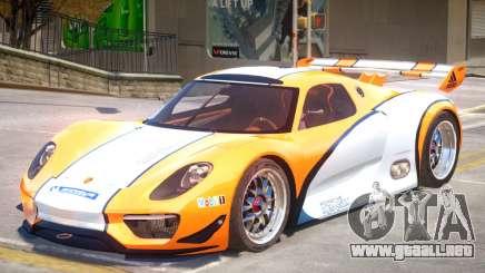 Porsche 918 RSR PJ2 para GTA 4