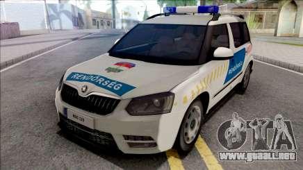 Skoda Yeti Magyar Rendorseg para GTA San Andreas