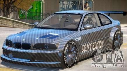 BMW M3 GTR Drift PJ1 para GTA 4