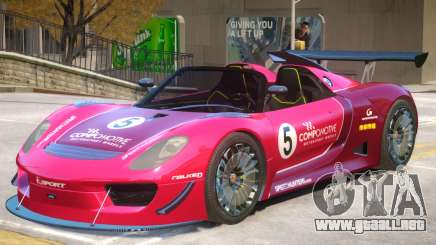 Porsche 918 Roadster PJ4 para GTA 4
