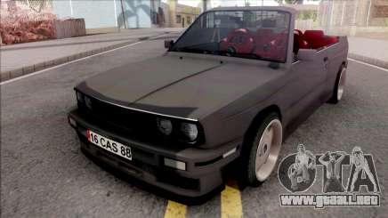 BMW 3-er E30 Cabrio para GTA San Andreas