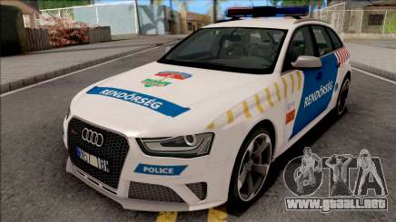 Audi RS4 Avant Magyar Rendorseg Updated Version para GTA San Andreas