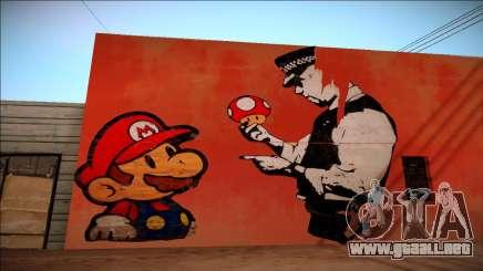 Mario Bros Wall HD para GTA San Andreas
