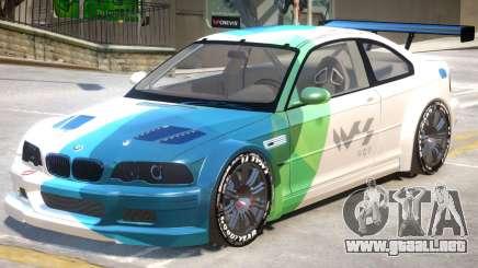 BMW M3 GTR PJ2 para GTA 4